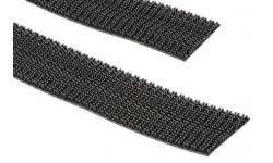 Bande de crochets Noir, Crochets champignons, 25mm x 5m - 1