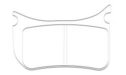 Kit plaquettes Racing Etrier 4 pistons - 1