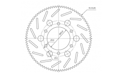 Disque de frein pour marche AR (ROSCROSS) - 1