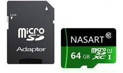 Carte mémoire micro SD 64GB + adaptateur - 1