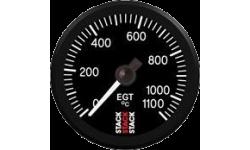Manomètre Stack Température Echappement 0-1100°C Pro Electrique - 1