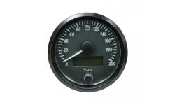 Compteur de vitesse VDO SingleViu™ Diamètre 80 Fond Noir 200KM/H - 1