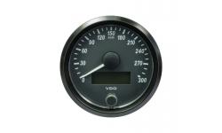 Compteur de vitesse VDO SingleViu Diamètre 80mm Fond Noir 300KM/H - 1