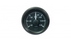 Ampèremètre VDO SingleViu Diamètre 52mm Fond Noir -30A/+30A - 1