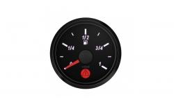 Manomètre Niveau de Carburant VDO SingleViu Diamètre 52mm Fond Noir - 1