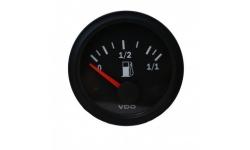 Manomètre VDO Niveau Essence Levier Vision Diamètre 52 Fond Noir - 1