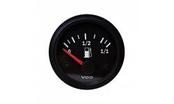 Manomètre VDO Niveau Essence Tubulaire Vision Diamètre 52 Fond Noir - 1