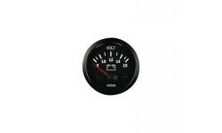 Manomètre Voltmètre VDO 8 / 16 Volts Vision Diamètre 52 Fond Noir - 1