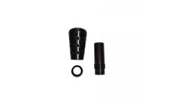 Pommeau Alu F2000 Noir 90mm - 1