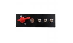 Platine interrupteurs alu avec coupe-circuit 6 pôles - 1