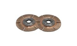 """Disque d'embrayage TILTON 5.5"""" bi-disques pour mécanisme métallique - 1"""