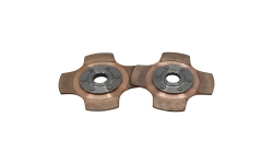 """Disque d'embrayage TILTON 5.5"""" bi-disques 4 patins pour mécanisme métallique - 1"""