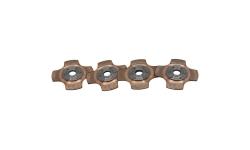 """Disque d'embrayage TILTON 5.5"""" 4 disques 4 patins pour mécanisme métallique - 1"""