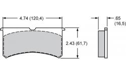 Plaquettes Wilwood FNSL4R / FNSL6R / Billet Narrow Superlite 6 Lug Mount / Superlite 4R Radial Mount / SLC56 WILWOOD - 1