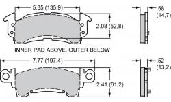 Plaquettes Wilwood GM D52 Dual Piston WILWOOD - 1