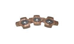 """Disque d'embrayage TILTON 7.25"""" tri-disques 4 patins pour mécanisme métallique - 1"""