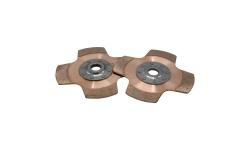 """Disque d'embrayage TILTON 7.25"""" bi-disques 4 patins pour mécanisme métallique - 1"""