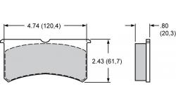 Plaquettes Wilwood Forged Superlite Internal / Forged Superlite 4R Radial Mount / 6R Radial Mount WILWOOD - 1